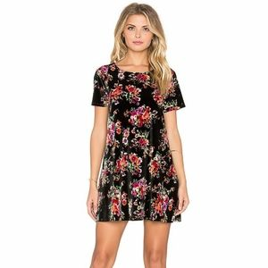 SMYM | Velvet Em Mini Dress in Bohemian Bouquet